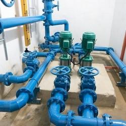Sistema de água pluvial em hotel